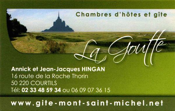 GTE Et CHAMBRES DHTES Baie Du MONT SAINT MICHEL LA GOUTTE 50220 COURTILS